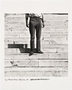 Photo by Robert Rauschenberg, 1952, Cy + Roman Steps (I-V), printed ca. 1997. Rauschenberg made of Twombly descending the iconic marble steps of the Basilica di Santa Maria in Aracoeli, Rome, Italy.