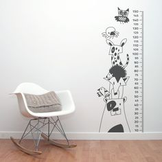 Medidor vinilo infantil Forest Vinilo de corte color gris oscuro Tamaño 60 x 160 cm Perfectamente embalado en tubo