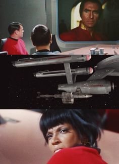 POINTS TO UHURA for that scene. (Space Seed)