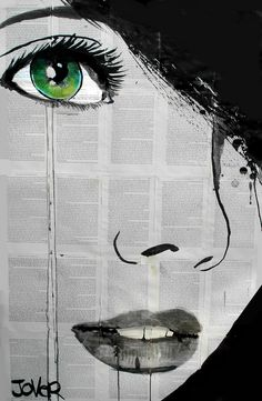 "Saatchi Online Artist: Loui Jover; Pen and Ink, Drawing ""prospero's daughter"""