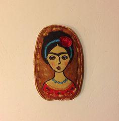 Hand painted brooch Frida brooch textile brooch Mexican painter fabric brooch art brooch stylish brooch Diego Rivera Frida Kahlo Mexican art NatashaArtDolls