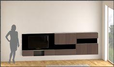 Magnetic modular TV wall editable example