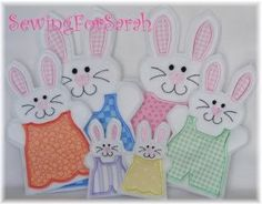Deluxe Bunny Puppet Embroidery Machine Designs for the 4x4, 5x7 and 6x10 hoops
