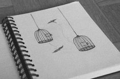 easy pencil drawings cool drawing hipster sketches sketchbook bird cage google vn