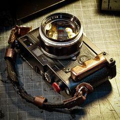 Leica M6 w/ Custom Made Wood Grip & Strap