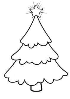 Christmas Cut Out Templates | Holiday Time Christmas Tree ...
