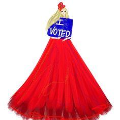 Have you?  - - -  #vote #artist #art #illustration #redwhiteandblue #lifeisart #painting #rockthevote