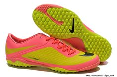 best value 2130f 8cf82 Nike Hypervenom Phelon TF Boots Yellow Pink Cheap Soccer Cleats, Pink  Soccer Cleats,
