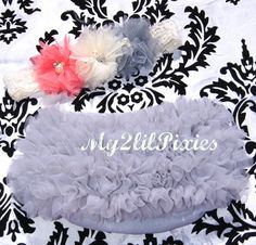Chiffon Ruffle Bum Baby Bloomer Diaper Cover and by my2lilpixies, $16.95