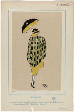 Très Parisien, ca. 1926 : Tempête. La tempête a surpris..., Anonymous, G-P. Joumard, c. 1926