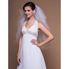 Marvelous 4 Layers Elbow Wedding Veil With Cut Edge – USD $ 19.99