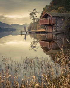 Fishing at the Duke of Portland boathouse, Ullswater Lake, England (by ColinSBell).