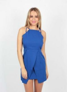 #Royal #Blue #Geometric #Envelope #Dress #Modern #Chic #Bold #Bright #Hot #Style #UsTrendy