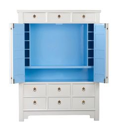 Ocean TV Cabinet by Lilly Pulitzer Use our changing table unit from Pbk and turn to media unit. Paint inside.