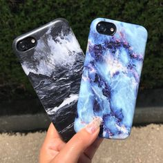 Black and blue Black Marble & Geode Case for iPhone 7 & 7 Plus from Elemental Cases Iphone 7 Plus, Iphone 8, Coque Iphone, Iphone Phone Cases, Apple Iphone, Phone Cover, Cute Iphone 7 Cases, Funny Phone Cases, Girly Phone Cases