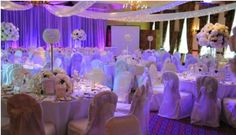 Ivory and white reception design