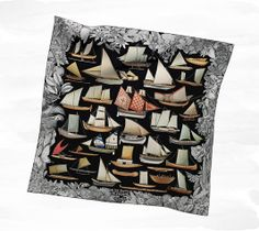 Scarves Hermès Black - Silk Twill - Scarves 90 - Women | Hermès, Official Website