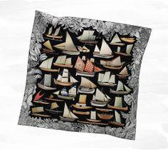 Scarves Hermès Black - Silk Twill - Scarves 90 - Women | Hermès, Official Website