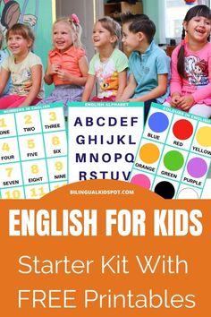 Teach Kids English – Your ESL Starter Kit #printables