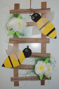 Včely - týdenní projekt - dekorace na dveře ŠD