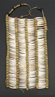 Plains Dentalia Shell Breastplate | Sale Number 2506, Lot Number 287A | Skinner Auctioneers