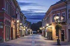 Dunavska street by night, Novi Sad, Serbia Beautiful Streets, Most Beautiful Cities, Serbia Travel, Heavenly Places, Amazing Places, Belgrade Serbia, Novi Sad, Night Photos, Sky And Clouds