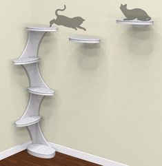 Catemporary Cat Tower and Shelf from The Refined Feline :: Coming Soon