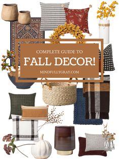 Complete Guide to Fall Decor! - Warm Home Decor Fall Living Room, Living Room Colors, Living Room Decor, Fall Home Decor, Autumn Home, Modern Fall Decor, Style Vintage, Vintage Fall Decor, Fall Diy