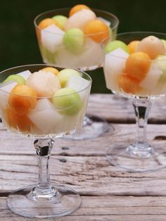 Almond Jelly - Chinese Dessert made out of Almond Jelly, Melon Fruits and Lychees