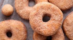 Cinnamon Sugar Doughnuts Recipe www.theteelieblog.com Why wait for someone to bring one of those bubblegum-pink boxes to the office to get your fix when you can make your own chewy, bakery-style doughnuts at home? #thrivemarket
