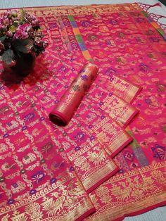 Heavy Patola  Silk Weaving Jequard  Saree (5 Pc Set) Handloom Weaving, Silk Sarees Online Shopping, Soft Silk Sarees, Buying Wholesale, Blouse Designs, Bohemian Rug, India, Fabric, Cotton