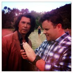 Adam_Bartley, Lou Diamond Phillips, and Katee Sackhoff (in the background) #Longmire