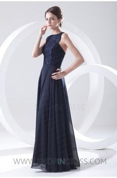 Dark Navy Prom Dress