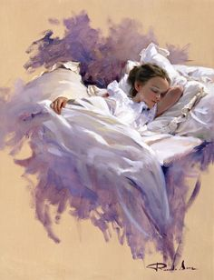 Ricardo Sanz – Sueño en violetas Óleo sobre lienzo. 65×50 cms.