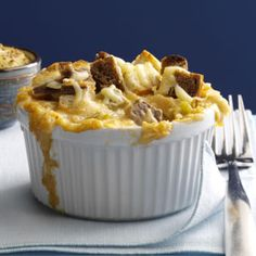 Mini Reuben Casseroles Recipe -These cute and creamy individual roast beef casseroles have the classic flavors of a Reuben sandwich. —Taste of Home Test Kitchen