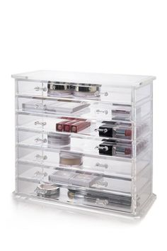 Deluxe 7-Drawer Cosmetics Chest by US Acrylic on @HauteLook Perfect for Makeup or Jewelry!