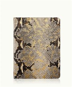 2016 Desk Diary, Gold Wash Metallic Embossed Python Leather