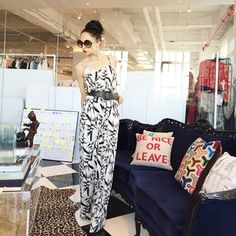 Stacey beats the nyc heat with our Nona Bamboo jumpsuit!