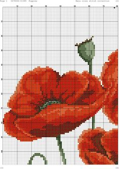 Coquelicot (grille 1/3)