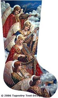 Heavenly Music Needlepoint Stocking