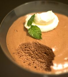 French Chocolate Espresso Mousse....I went from laughing uproariously to staring at this in a 'that's the time of the month' way