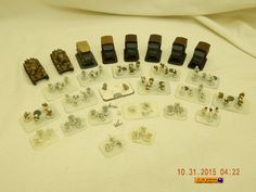 WARGAMING PIECES: GERMAN ARMY! 27 PIECES! PEWTER! MOST PAINTED! USED! AS IS! #UNKNOWN