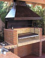 Quincho bajo techo Outdoor Kitchen Grill, Rustic Kitchen, Bbq Grill Diy, Built In Braai, Pergola, Brick Bbq, Outdoor Fireplace Designs, Backyard Pavilion, Bungalow House Design