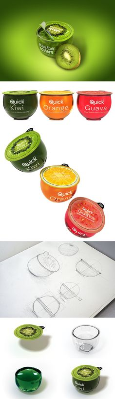 More fab Quick Fruit, Marcel Buerkle curated by Packaging Diva PD Fruit Packaging, Pretty Packaging, Brand Packaging, Packaging Design, Food Design, Creative Design, Japanese Graphic Design, Bottle Design, Label Design