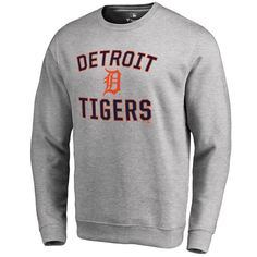 Detroit Tigers Victory Arch Pullover Sweatshirt - Ash - $49.99