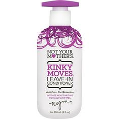 Want to try this next! #way2growhair #contest Not Your Mother's Kinky Moves Leave-In Conditioner You love your curls, but do…