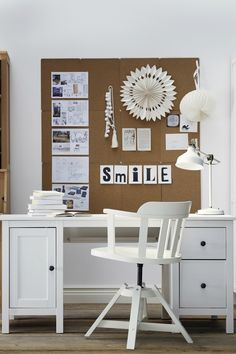 A traditional feel with modern function - the IKEA HEMNES desk features smart…