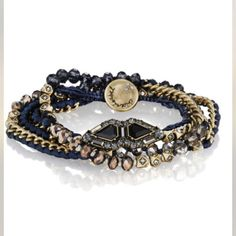 Chloe + Isabel Monarque Multi Wrap Blue Bracelet.