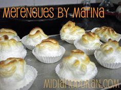 Merengues Dukan Pure Protein, Protein Foods, Protein Recipes, Healthy Desserts, Delicious Desserts, Yummy Food, Meringue Pavlova, Dukan Diet, Food Videos