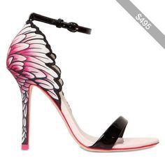 SOPHIA WEBSTER 100mm Flamingo Patent & Satin Sandals